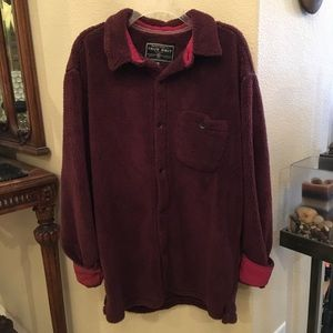 TRUE GRIT Sueded Soft Sherpa Big Overshirt Size XL
